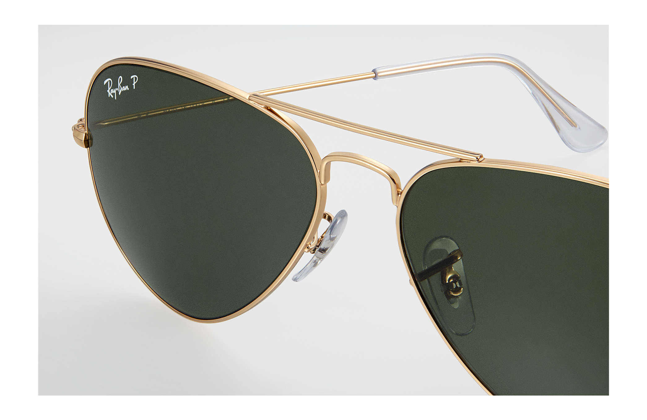 48ce6d8dba5cef Ray-Ban Aviator Classic RB3025 Gold - Metal - Green Polarized Lenses ...