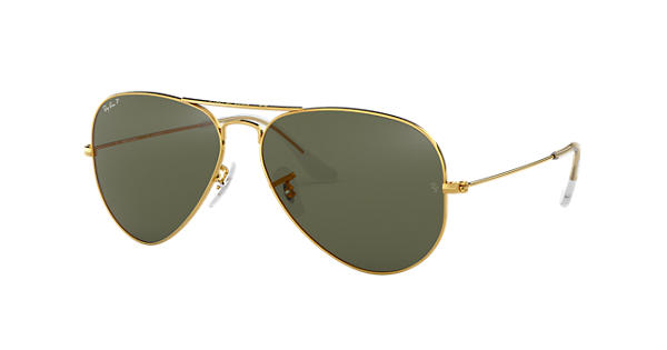b3c8062f67 Ray-Ban Aviator Classic RB3025 Gold - Metal - Green Polarized Lenses -  0RB3025001 5858