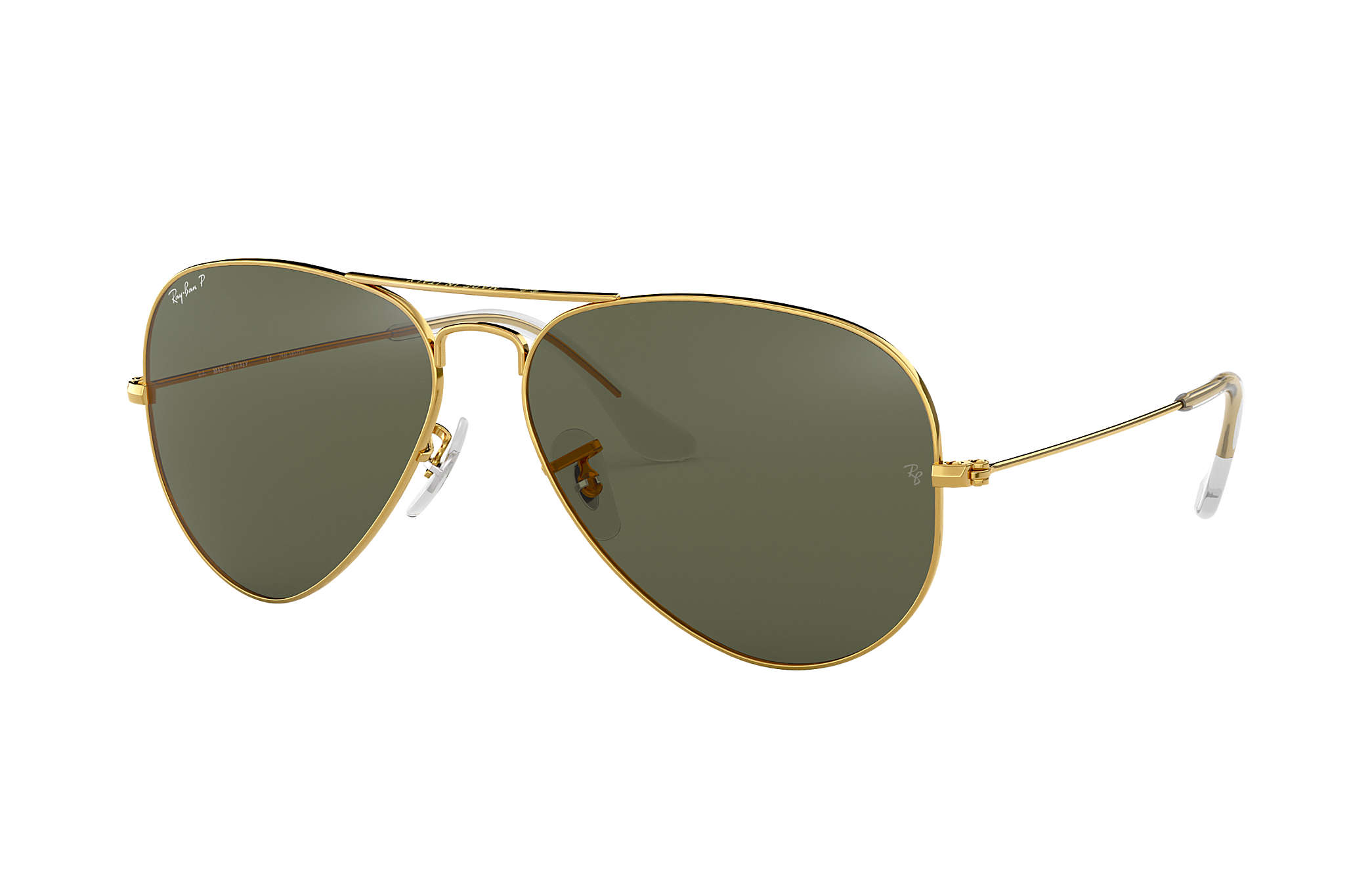 d1a18df0ee133 Ray-Ban Aviator Classic RB3025 Gold - Metal - Green Polarized Lenses ...