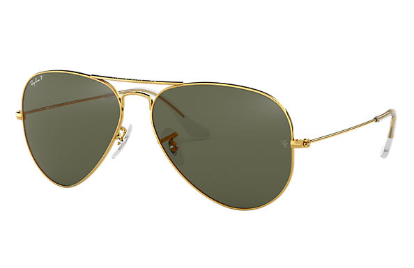 Ray-Ban Aviator Classic RB3025 Gold - Metal - Green Polarized Lenses ... edc15c1fe947