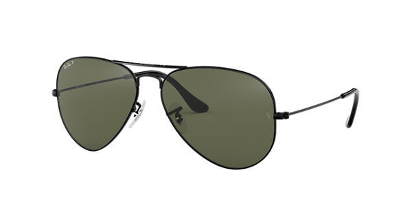 925496ca28035b Ray-Ban Aviator Classic RB3025 Black - Metal - Green Polarized Lenses -  0RB3025002 5858   Ray-Ban® USA