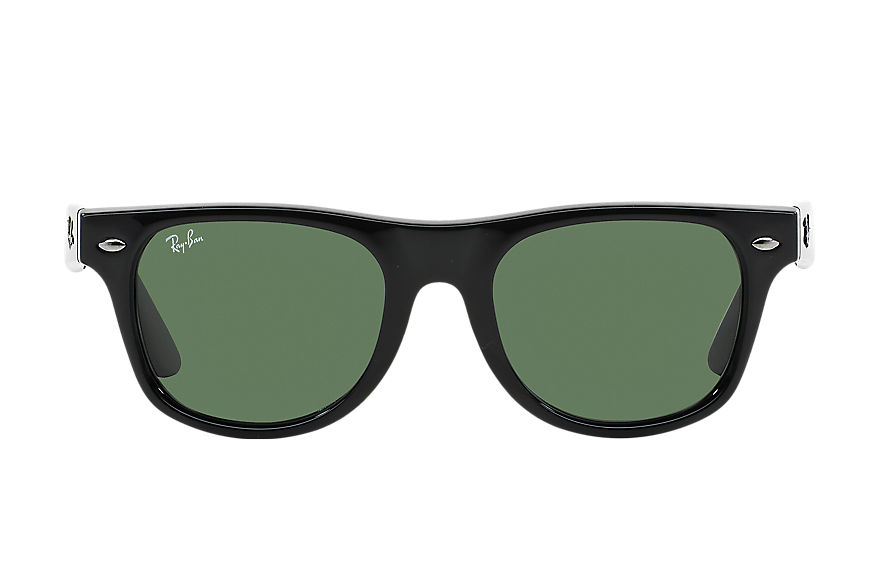 Ray-Ban Sunglasses WAYFARER JUNIOR Black with Green Classic lens