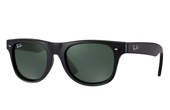 47c3d02f5c Ray-Ban Wayfarer Junior RB9035S Black - Nylon - Green Lenses ...