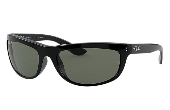 d729b76152 Ray-Ban Balorama RB4089 Black - Nylon - Green Polarized Lenses ...