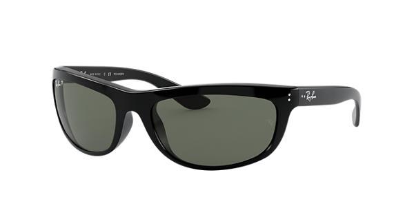 d63b1e2581 Ray-Ban Balorama RB4089 Black - Nylon - Green Polarized Lenses -  0RB4089601 5862