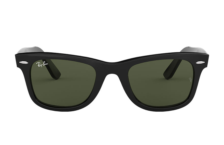 Ray-Ban Sunglasses ORIGINAL WAYFARER CLASSIC Polished Black with Green Classic G-15 lens