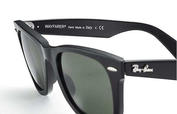 Ray-Ban Original Wayfarer Classic RB2140 Black - Acetate - Green ... 952db4122314