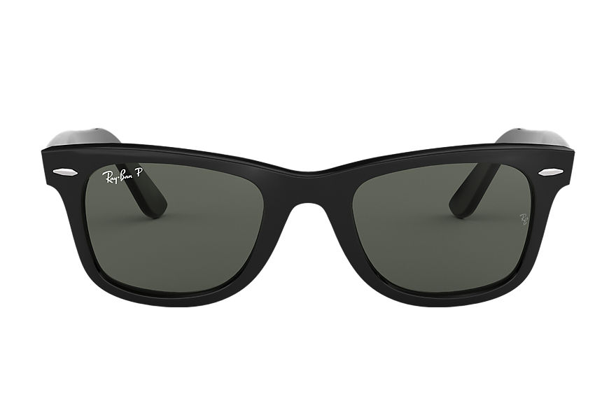 Ray-Ban Sunglasses ORIGINAL WAYFARER CLASSIC Black with Green Classic G-15 lens