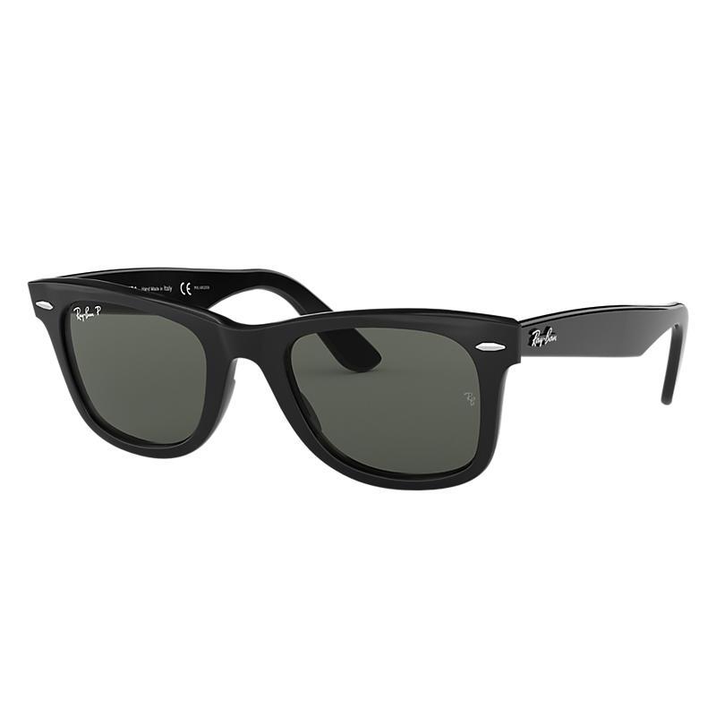 Ray-Ban Men's Original Wayfarer Black Sunglasses, Polarized Green Lenses - Rb2140