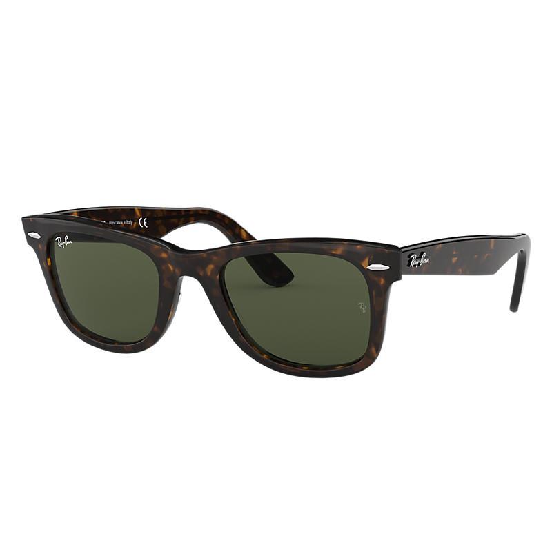 541d4ed210a Rayban Ray Ban Original Wayfarer Classic Unisex Sunglasses Lenses Groen  Frame Tortoise Rb2140 902 50 22