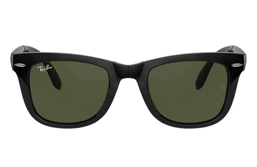 Ray-Ban Sunglasses WAYFARER FOLDING CLASSIC Black with Green Classic G-15 lens