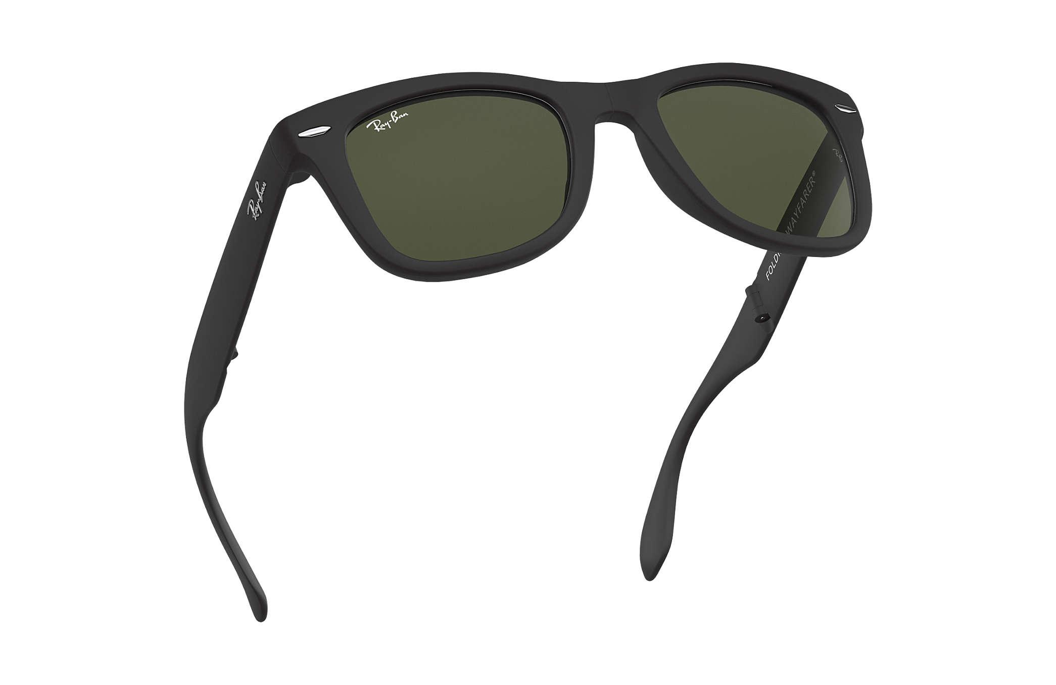 c0fb0028e1 Ray-Ban Wayfarer Folding Classic RB4105 Black - Nylon - Green Lenses ...