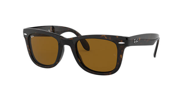 d792793230 Ray-Ban Wayfarer Folding Classic RB4105 Tortoise - Nylon - Brown Lenses -  0RB410571050