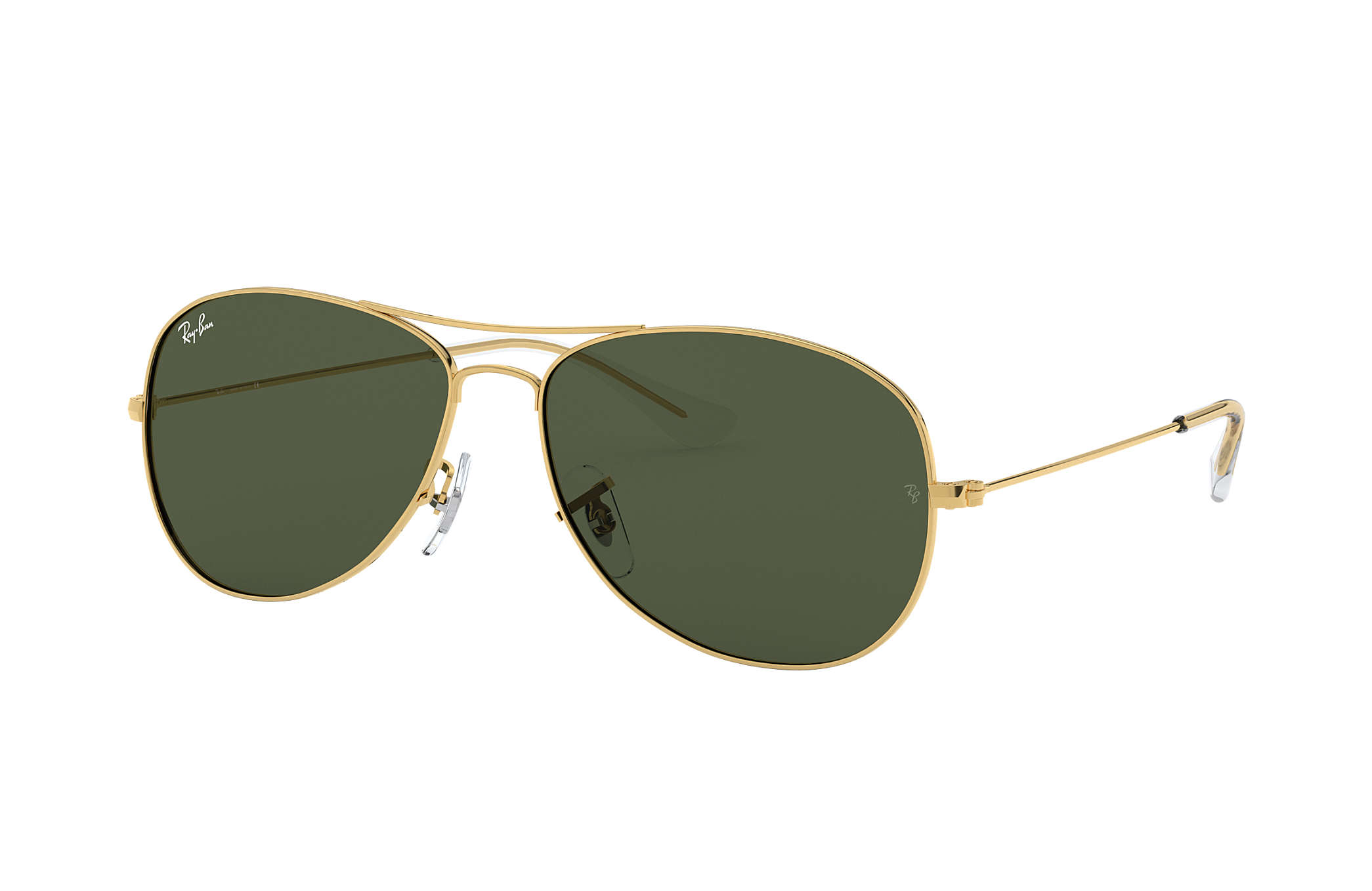 100503e530da Ray-Ban Cockpit RB3362 Gold - Metal - Green Lenses - 0RB336200159 ...