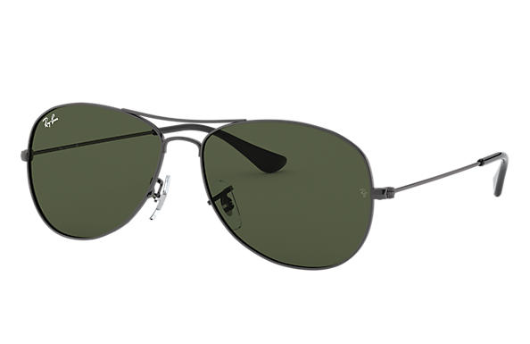 ab446f995 Ray-Ban Cockpit RB3362 Gold - Metal - Green Lenses - 0RB336200159 ...