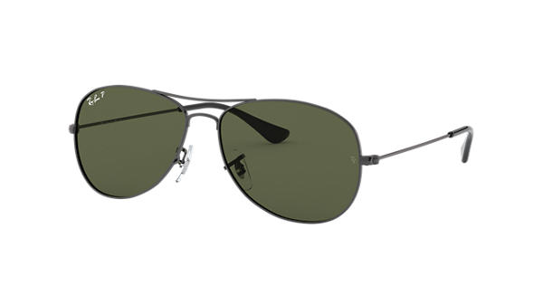 f9ee9f666cc Ray-Ban Cockpit RB3362 Gunmetal - Metal - Green Polarized Lenses -  0RB3362004 5859