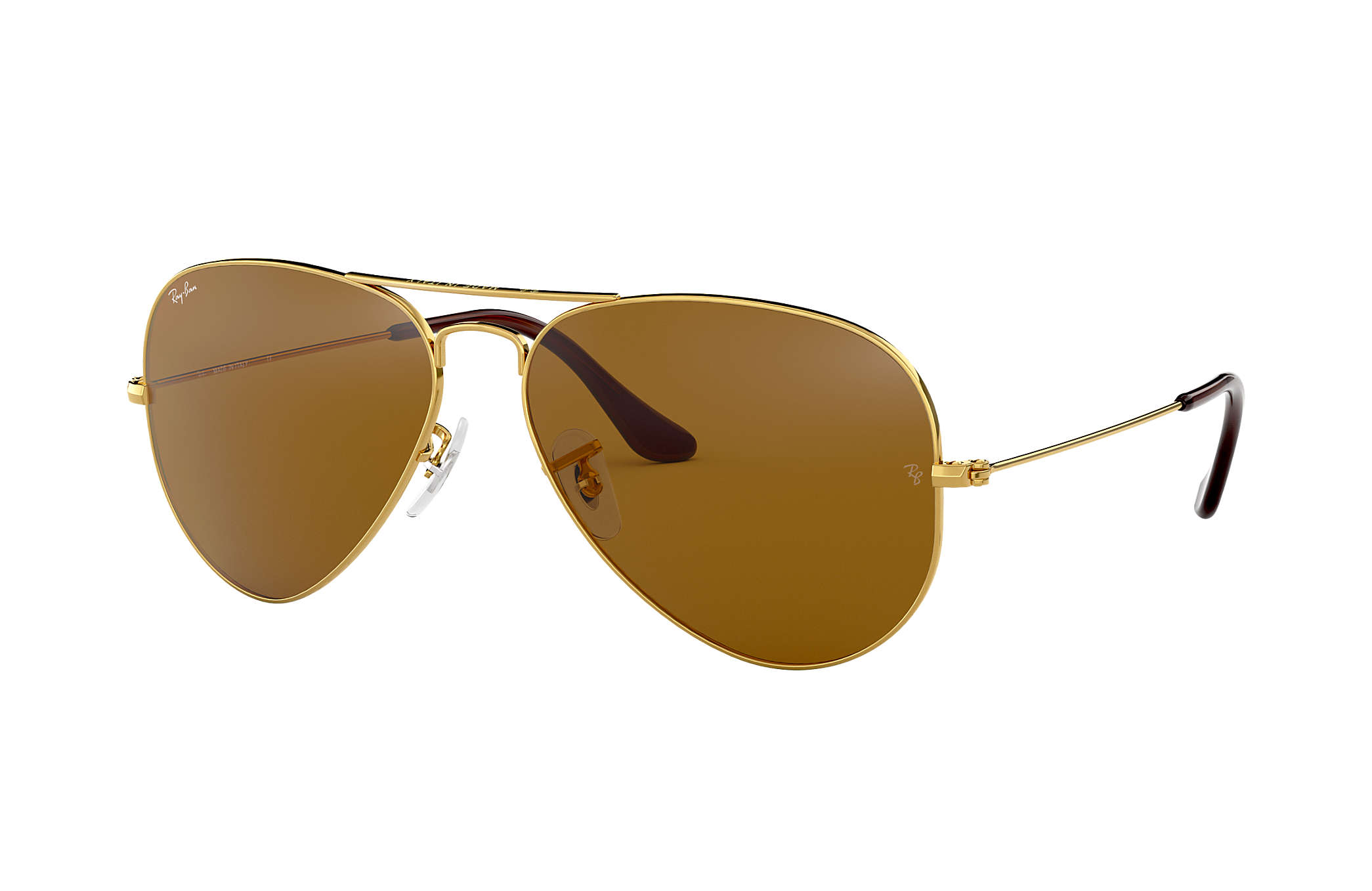 7cf7496f024e Ray-Ban Aviator Classic RB3025 Gold - Metal - Brown Polarized Lenses ...
