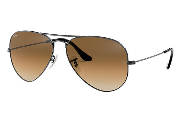 0ce841d656 Ray-Ban Aviator Gradient RB3025 Gunmetal - Metal - Light Brown ...