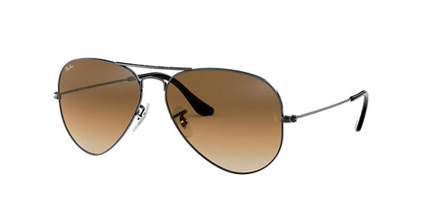 46b72d17a0d77 Ray Ban Large Aviator Gun Brown Garnier
