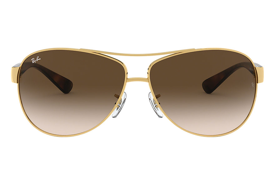 Ray-Ban RB3386 Gold with Brown Gradient lens