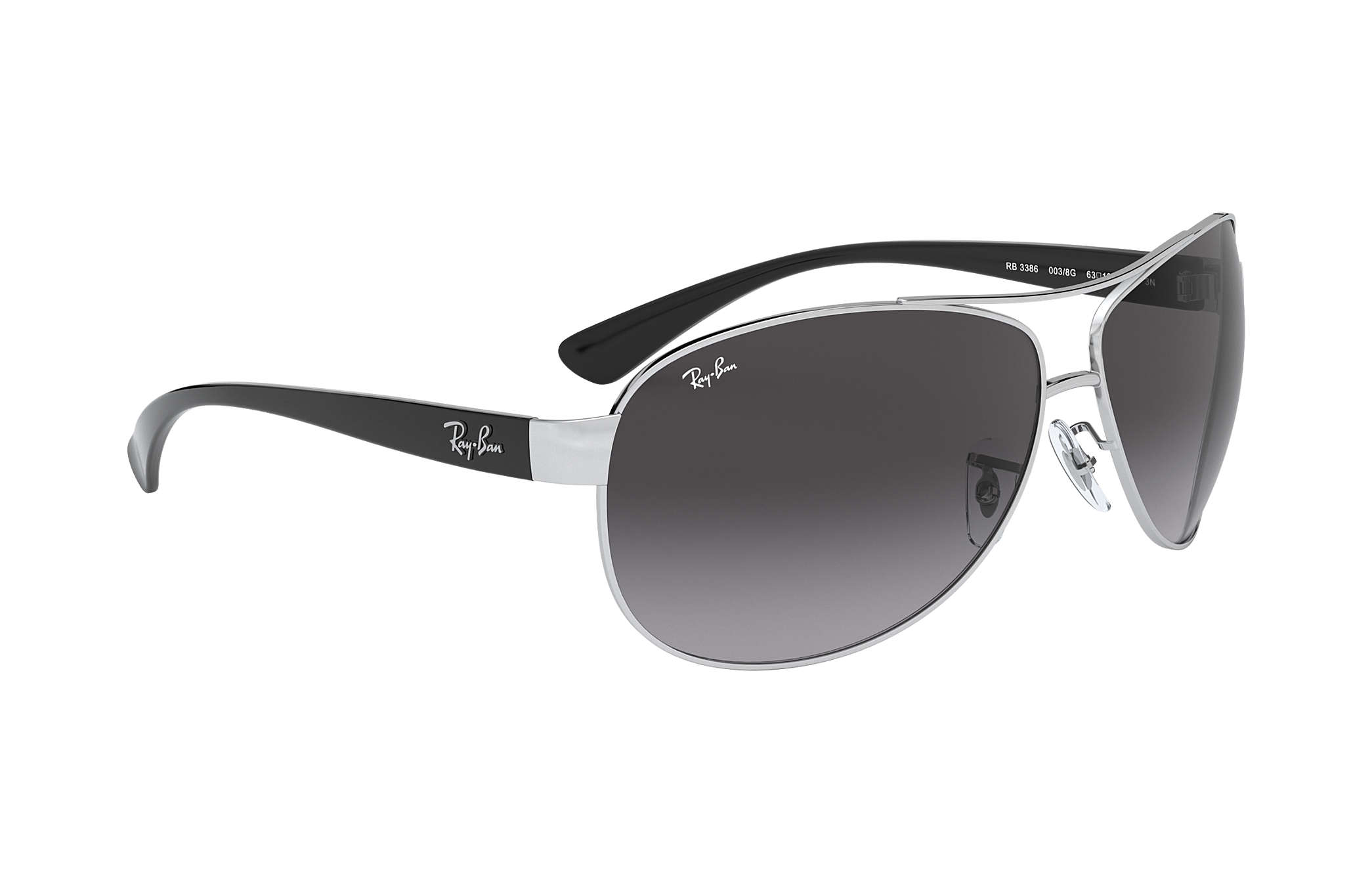 bc9a6f6ef Ray-Ban RB3386 Silver - Metal - Grey Lenses - 0RB3386003/8G67 | Ray ...