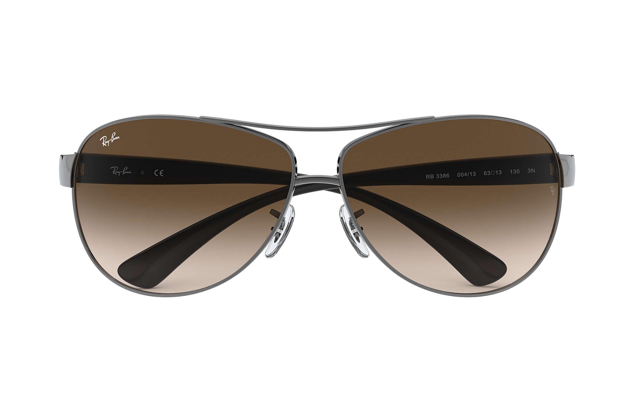 Ray Ban Rb3386 Gunmetal Metal Brown Lenses 0rb3386004 1363 Kacamata Oem Gb001 Black 0rb3386 Sun