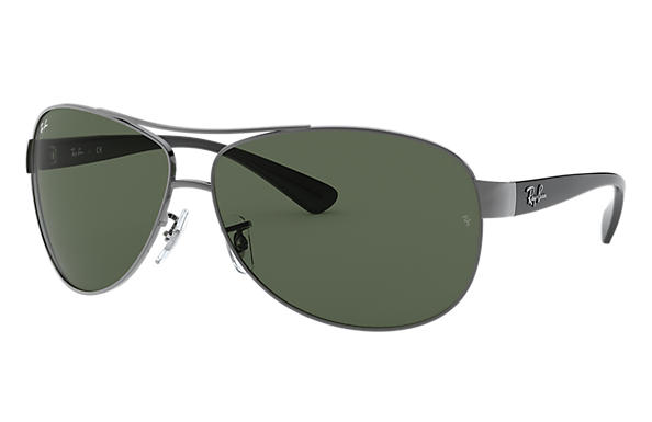 8b197e630e Ray-Ban RB3386 Gunmetal - Metal - Green Lenses - 0RB3386004 7163 ...