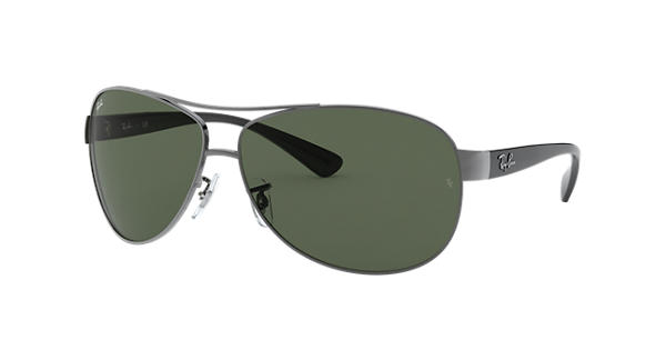 d457a03a68d Ray-Ban RB3386 Gunmetal - Metal - Green Lenses - 0RB3386004 7163 ...