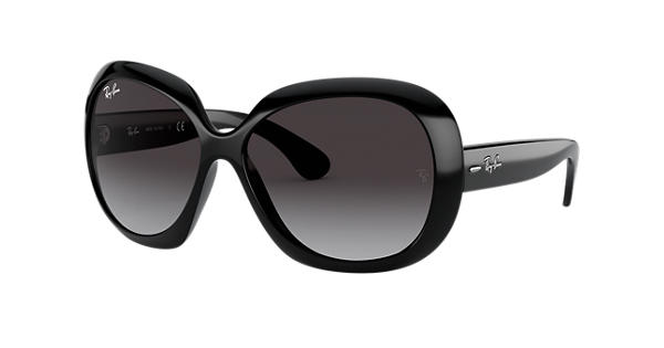 ray ban jackie ohh ii rb4098 black nylon grey lenses. Black Bedroom Furniture Sets. Home Design Ideas