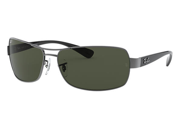 03e2f40c3df Ray-Ban RB3379 Gunmetal - Metal - Green Polarized Lenses ...