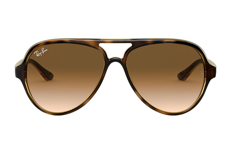 Ray-Ban CATS 5000 CLASSIC Tortuga brillante con lente Marrón claro Degradada