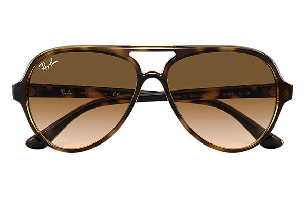 7838694442 Ray-Ban Cats 5000 Classic RB4125 Tortoise - Nylon - Light Brown ...