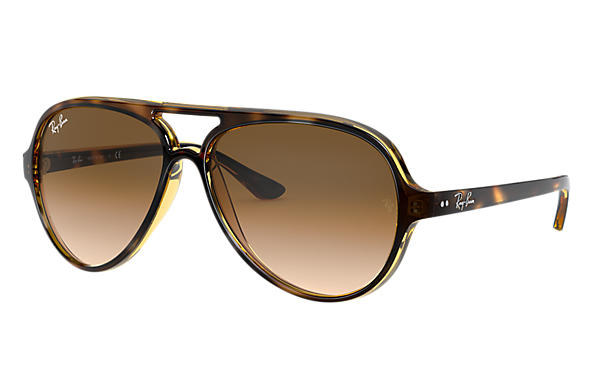 Ray-Ban Sunglasses CATS 5000 CLASSIC Tortoise with Light Brown Gradient lens