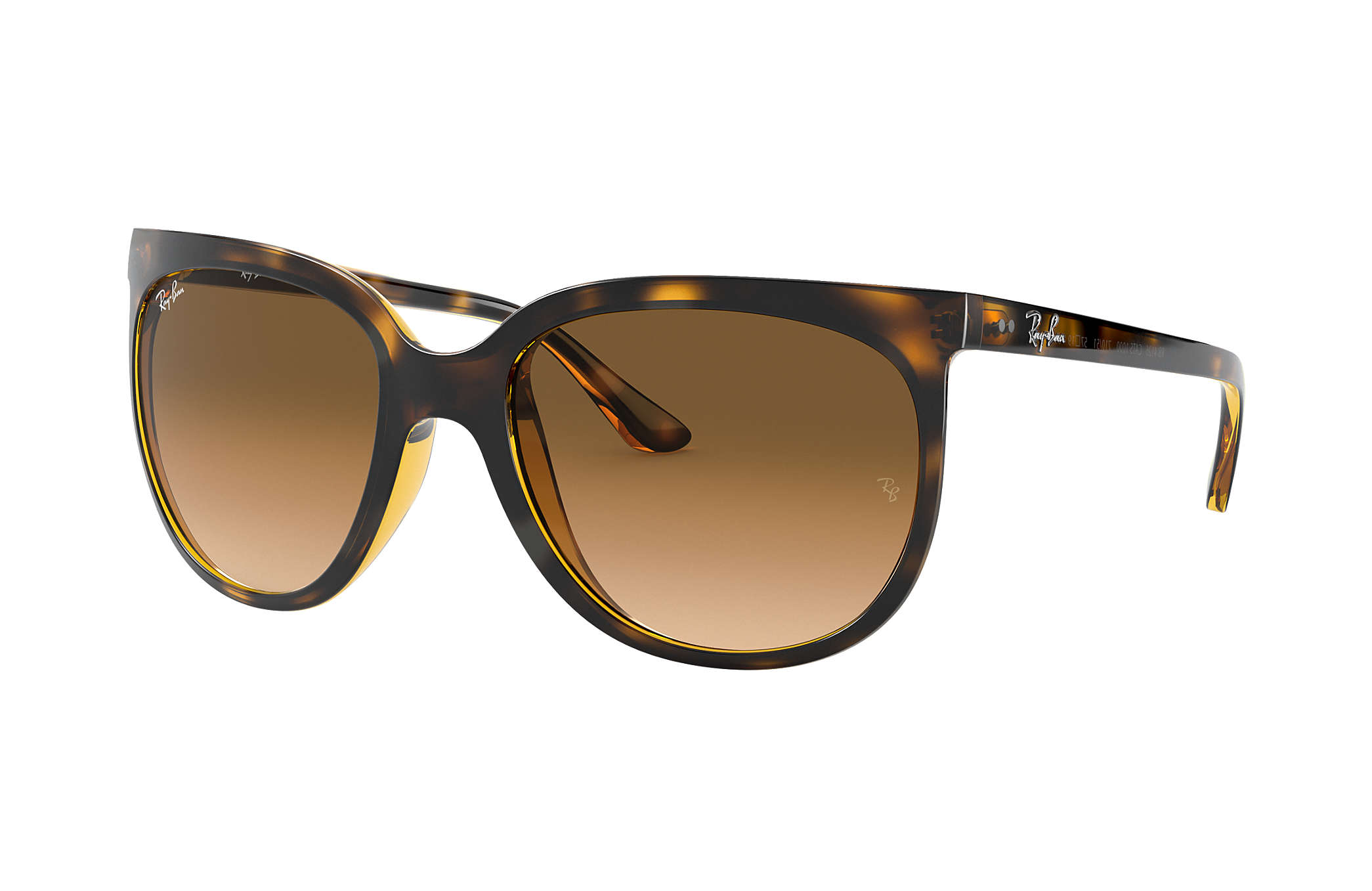9f55addcc5b Ray-Ban Cats 1000 RB4126 Tortoise - Nylon - Light Brown Lenses ...