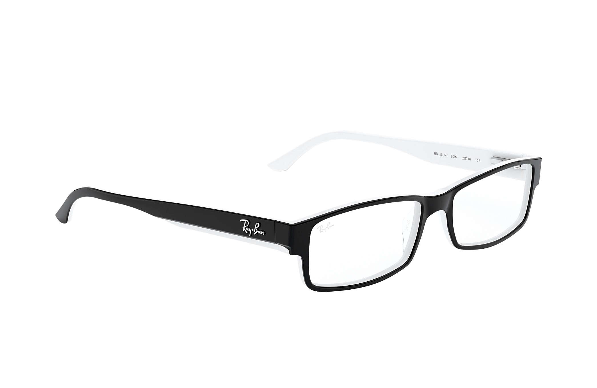 1921923f83b40 Ray-Ban prescription glasses RB5114 Black - Acetate - 0RX5114209752 ...