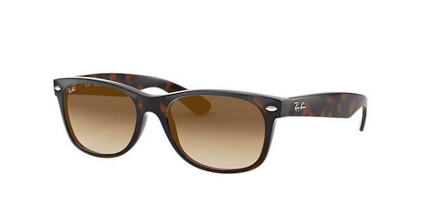 55dc9b3c02dfa Ray-Ban New Wayfarer Classic RB2132 Tortoise - Nylon - Light Brown Lenses -  0RB2132710 5152