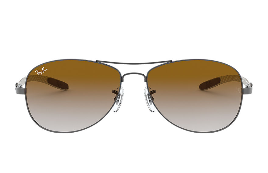 Ray-Ban Sunglasses RB8301 Gunmetal with Light Brown Gradient lens