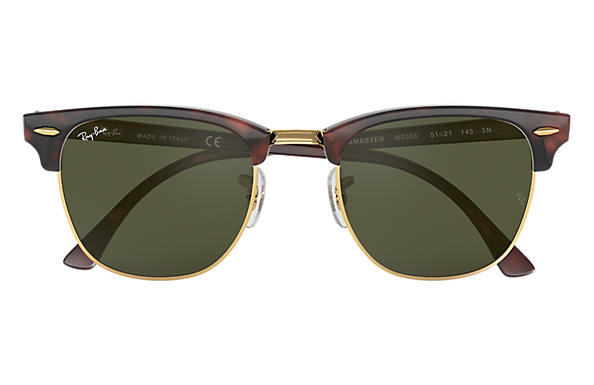 517e5bd5a Ray-Ban Clubmaster Classic RB3016 Tortoise - Acetate - Green Lenses ...