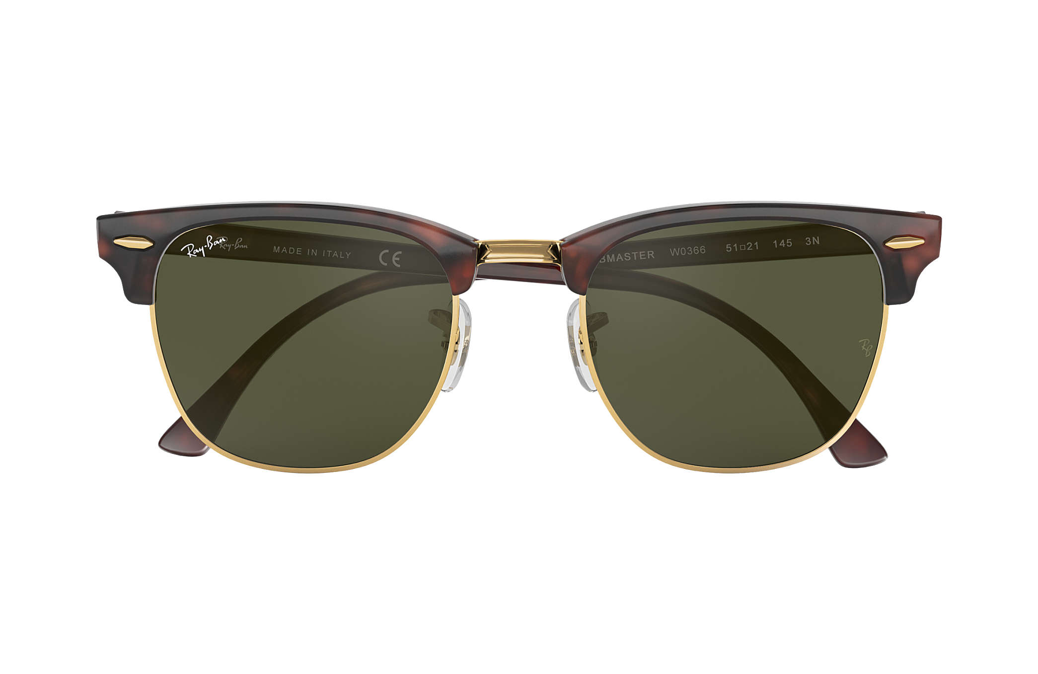 d6f6e9efa829c Ray-Ban Clubmaster Classic RB3016 Tortoise - Acetate - Green Lenses ...