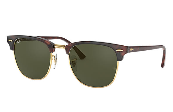 05fe65cda42 Ray-Ban Clubmaster Classic RB3016 Black - Acetate - Green Lenses -  0RB3016W036549