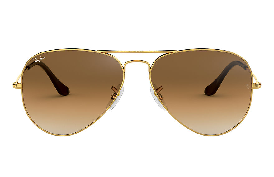 Ray-Ban Sunglasses AVIATOR GRADIENT Polished Gold with Light Brown Gradient lens