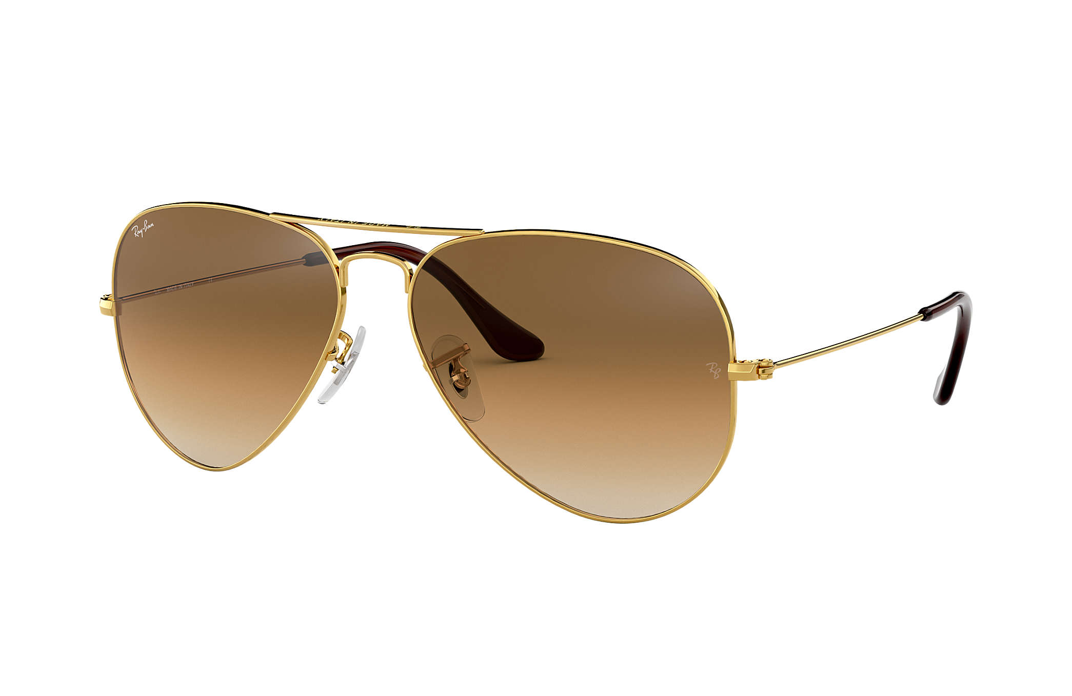 3cc1a328b7f0 Ray-Ban Aviator Gradient RB3025 Gold - Metal - Light Brown Lenses ...