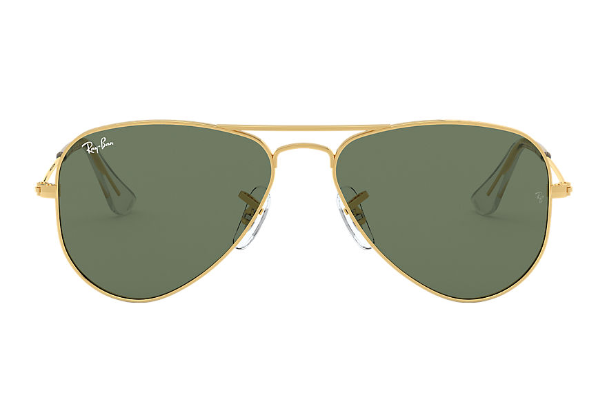 Ray-Ban AVIATOR JUNIOR Gold with Green Classic lens