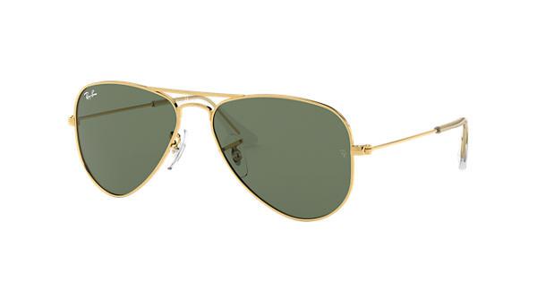 e8bd6fb52 Ray-Ban Aviator Junior RB9506S Gold - Metal - Green Lenses -  0RJ9506S223/7150 | Ray-Ban® USA