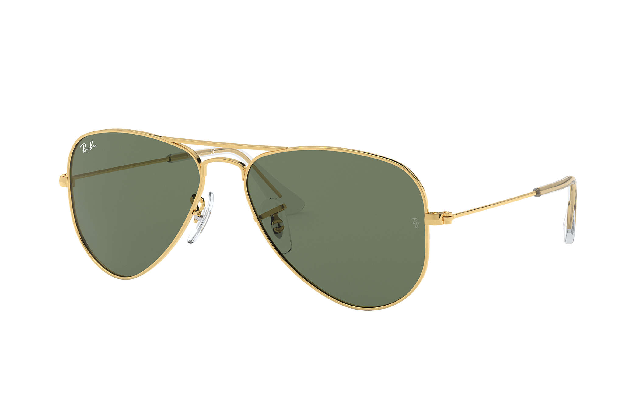 59d36164f7109 Ray-Ban Aviator Junior RB9506S Ouro - Metal - Lentes Verde ...