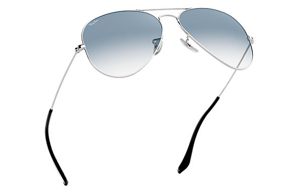 638167608d Ray-Ban Aviator Gradient RB3025 Silver - Metal - Light Blue Lenses ...