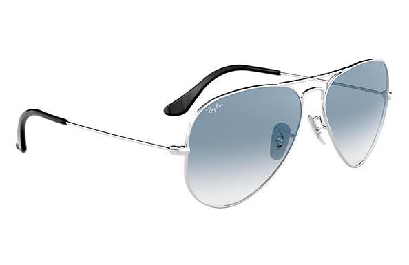 28ed617d1 Ray-Ban Aviator Gradient RB3025 Silver - Metal - Light Blue Lenses ...