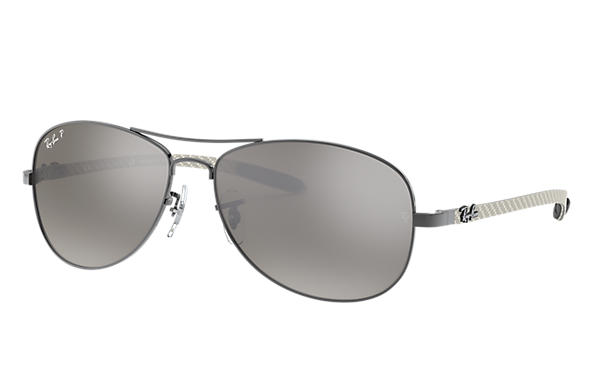 cba56eacba Ray-Ban RB8301 Gunmetal - Carbon Fibre - Light Brown Lenses ...