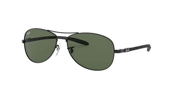 f9787e2c54 Ray-Ban RB8301 Black - Carbon Fibre - Green Lenses - 0RB830100256 ...