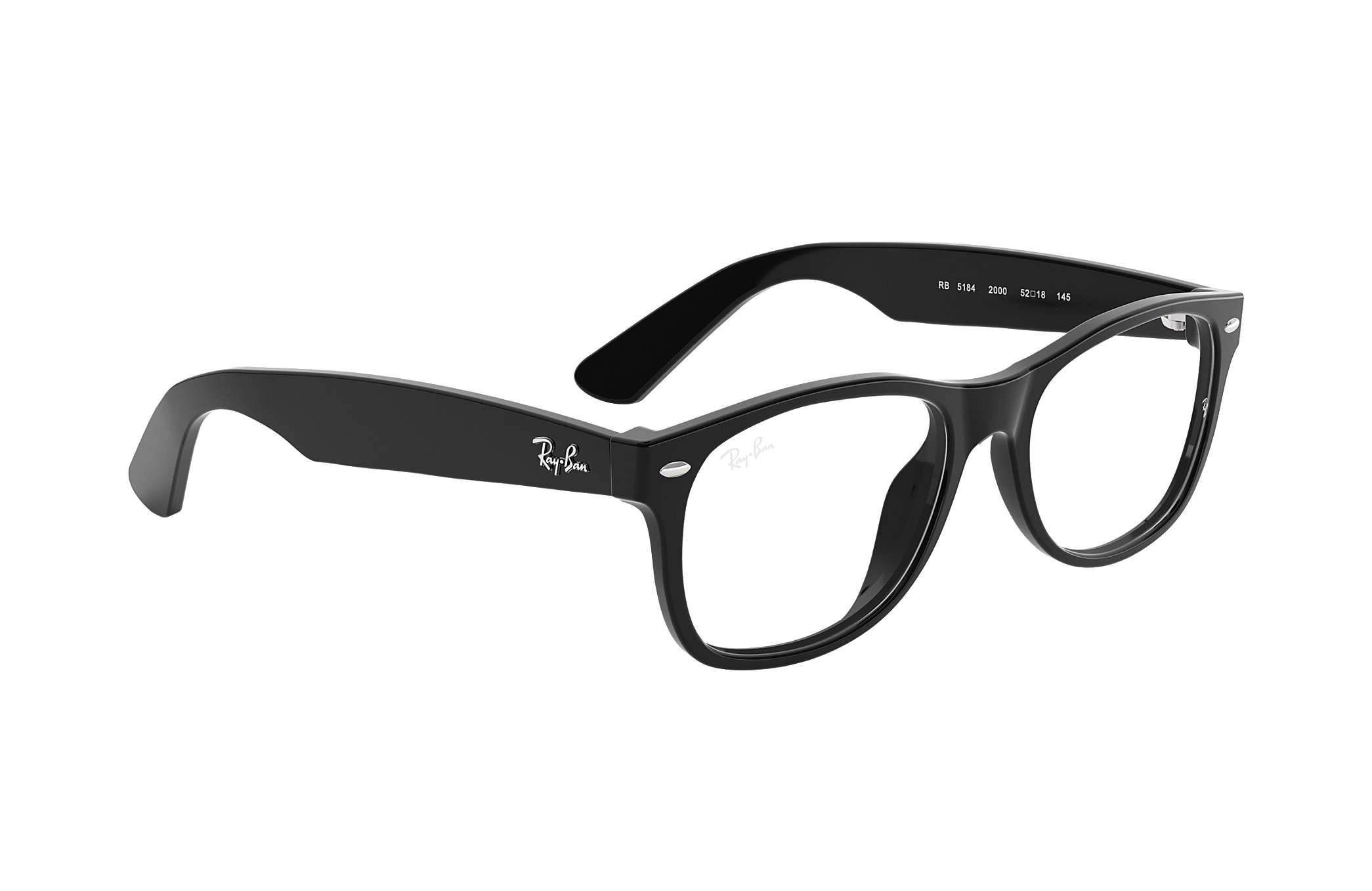 9ad44ff741 Ray-Ban prescription glasses New Wayfarer Optics RB5184 Black ...